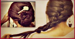 put your hair in a bun with braids how to french braid your own hair tutorial romantic updo bun