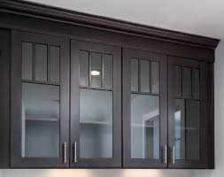 Black Mission Style Cabinets With Mullion Doors And Glass Inserts - Glass inserts for kitchen cabinet doors