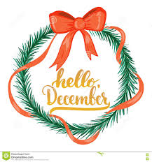 typography lettering phrase hello december isolated on