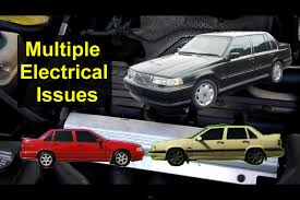 multiple electrical issues bad ignition switch volvo s70 850