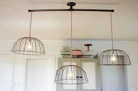 Diy Light Fixtures Diy Wire Basket Lights The Merrythought