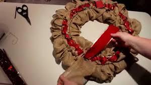 diy best quick easy burlap wreath tutorial youtube