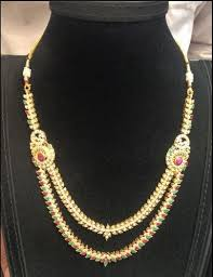 double necklace set images Gold necklace set designer gold necklace set retailer from hyderabad jpg