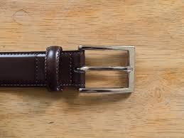 brooks brothers leather dress belt bespoke man