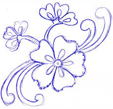 Flowers Designs For Drawing Simple Flower Designs Pencil Drawing Drawing Pencil