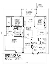 house floor plans single story bedroom bath car garage