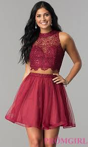 Prom Dresses For 5th Graders Two Piece Short Dresses 2 Piece Prom Gowns P1 By 100 Popularity