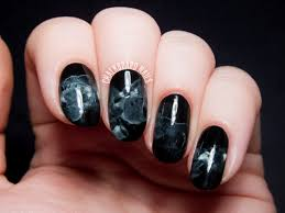 midnight smoke nail art just in time for halloween with video