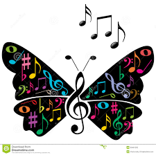 music notes butterfly stock vector image 39461202