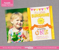 sunshine invitation my first birthday invitation invitation ideas