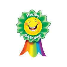 birthday ribbons happy birthday smiling ribbon award by creative teaching press
