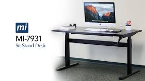 Sit Or Stand Desk by Height Adjustable Sit Stand Desk With Manual Crank Frame Only