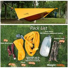 naturehike hammock tent portable with mosquito net single person