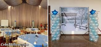 balloon pillars for kyocera u0027s kddp christmas party at oakridge