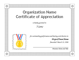 performance certificate template certificate format samples