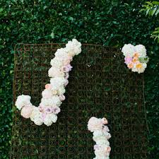 wedding backdrop initials floral wedding initials in and ivory at