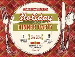 holiday party dinner invitation design template stock vector art