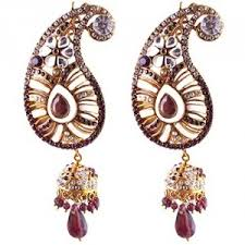kanphool earrings earrings ear ambi purple kanphool earrings with kundan