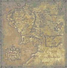 Map Pattern Yep That U0027s A Cross Stitch Pattern For A Middle Earth Map