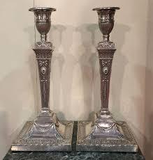 candelieri in argento coppia candelieri in argento inglesi londra antiquariato su