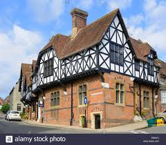 mock tudor style house in the medieval town of arundel west