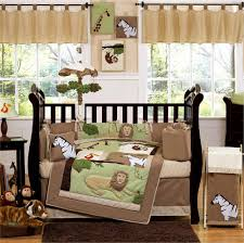 likeable baby nursery room with engaging animal jungle quilt