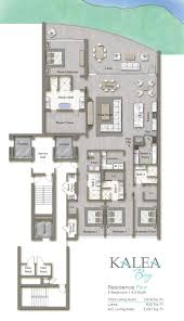 residence kalea bay luxury waterfront condominiums residence four floor plan
