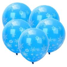 snowflake balloons 12pcs frozen snowflake balloon for birthday party supplies