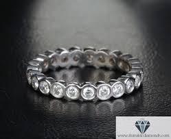 set diamond eternity bezel set diamond wedding band or ring 14k gold
