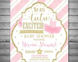 ballerina baby shower invitations ballerina baby shower invitation digital file tutu excited