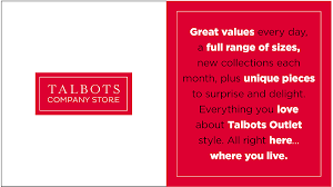 how other stores are handling outlet store locations talbots