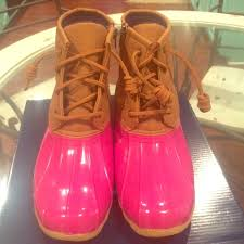 womens sperry duck boots size 9 sperry sperry saltwater duck boots pink size 5 5 6 from