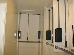 interior design pull down closet rod home decorations ideas with