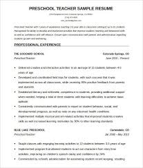 Best Resume For Students by Free Sample Resume For Teachers Best Resume Collection