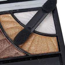 Eyeshadow Qianyu qianyu square box 3 color makeup eyeshadow palette golden brown