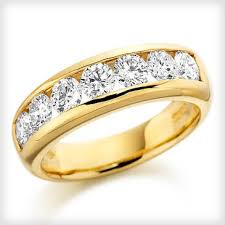 gold eternity rings 18ct yellow gold brilliant cut diamond half eternity ring cotton