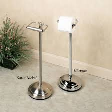 bathroom free standing toilet paper holder with brass free