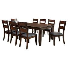 9pc dining room set sun pine 9pc dining table set wood dark cherry target