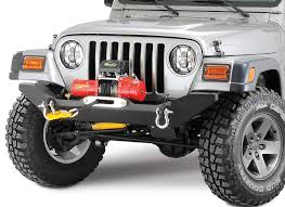 jeep body armor body armor tj 19531 4x4 front formed winch bumper for 87 06 jeep