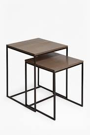 modern nest of tables uk industrial franco nest of tables collection french connection