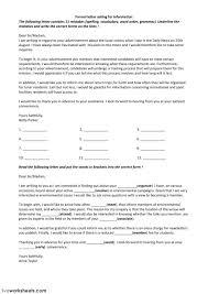 Formal Letter Asking Information letters asking for information interactive worksheet