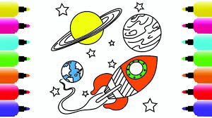 spaceship coloring pages for children how to draw spaceship and
