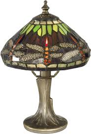 Dale Tiffany Buffet Lamps by Dale Tiffany 7601 521 Dragonfly Tiffany Antique Bronze Side Table