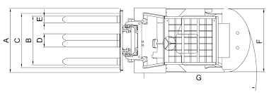 tailift fg25 5000 lb pneumatic gas lpg forklift