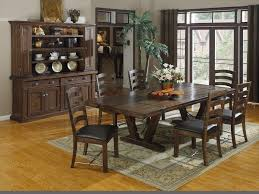 popular rustic dining room tables and chairs with bench around