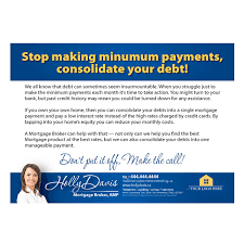 debt postcard u2013 mortgage branded marketing