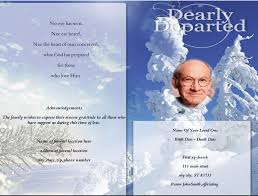 create funeral programs free funeral order of service template memorial program