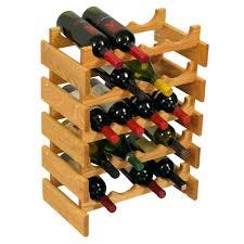 Decorative Wine Racks For Home Wine Rack With Stemware Holder 16 Bottle Tabletop Wine Rack