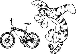 tigger bike coloring page wecoloringpage
