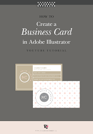 Youtube Business Card How To Create A Business Card In Adobe Illustrator Clarice Gomes